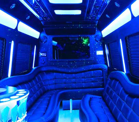 Interior of Mercedes Sprinter Van